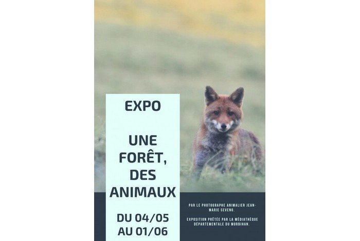 Exposition «Une forêt, des animaux» du 04/05 au 01/06 à Moustoir-Ac
