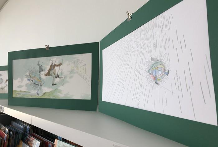 L'exposition Esther Volauvent visible à la médiathèque !